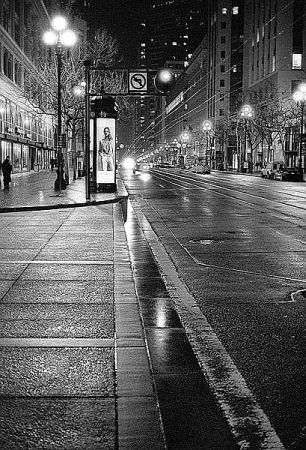 Night Time Black And White Film Photography