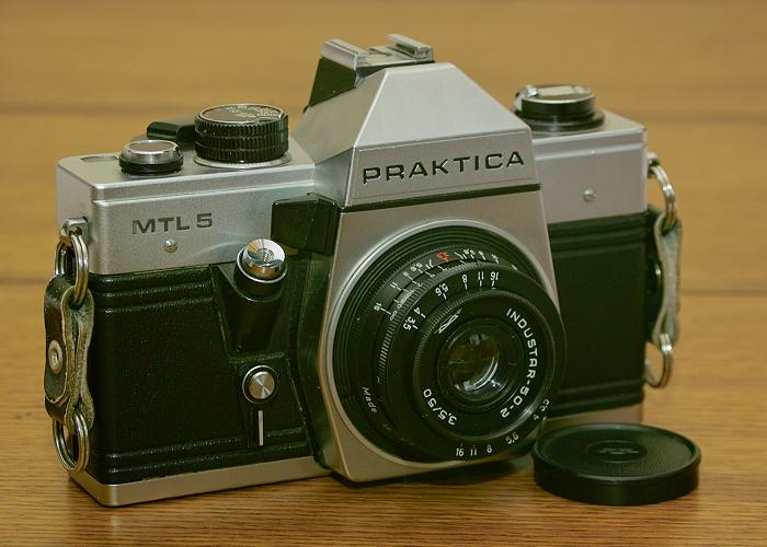 Pentacon praktica mtl with industar lens photo