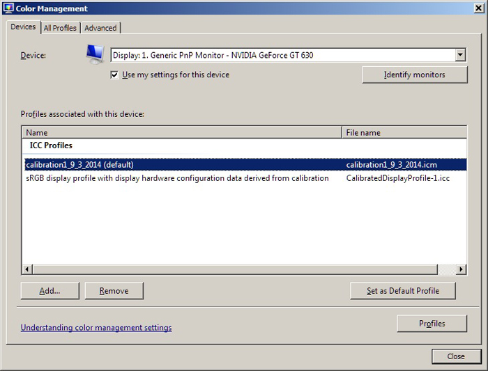 Windows 7, monitors and sRGB | Photo net Photography Forums