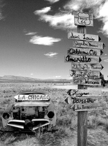 Route 66 Signs CD27BW.jpg